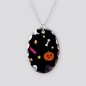 trick or treat Necklace Oval Charm