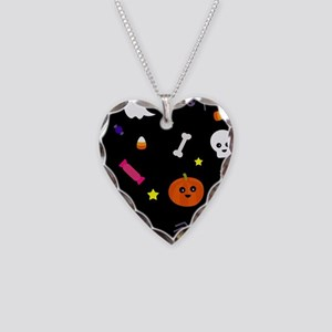 trick or treat Necklace Heart Charm
