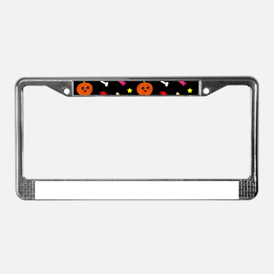 trick or treat License Plate Frame
