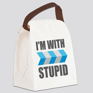 I'm With Stupid Canvas Lunch Bag