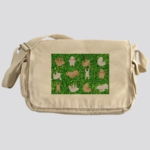 funny sloths Messenger Bag