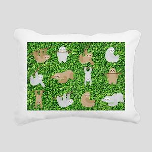 funny sloths Rectangular Canvas Pillow