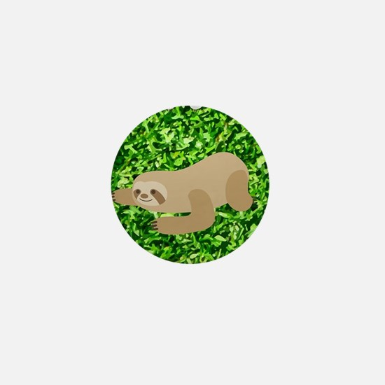 funny sloths Mini Button