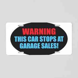 Garage Sales Aluminum License Plate