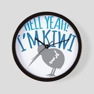 Hell yeah I'm kiwi! Wall Clock