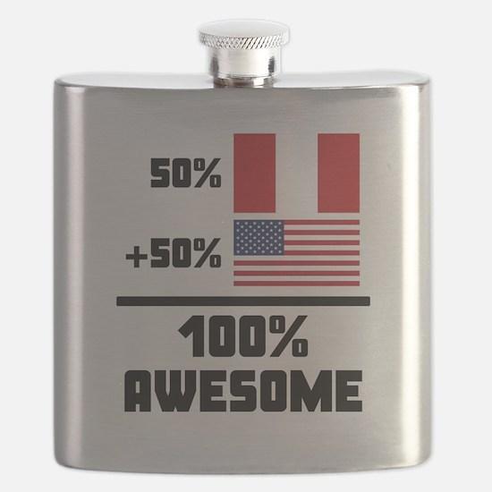 Awesome Peruvian American Flask