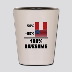 Awesome Peruvian American Shot Glass