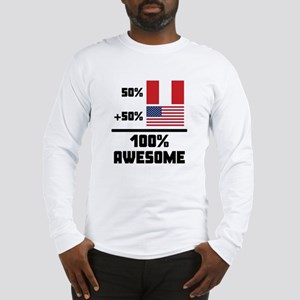 Awesome Peruvian American Long Sleeve T-Shirt