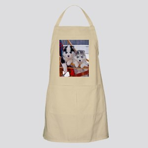 Husky Puppies in sled Apron