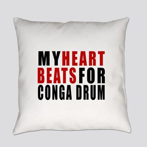 My Heart Beats For Conga drum Everyday Pillow