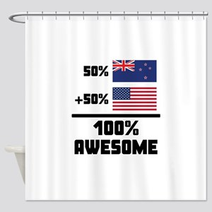 Awesome Kiwi American Shower Curtain