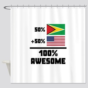 Awesome Guyanese American Shower Curtain