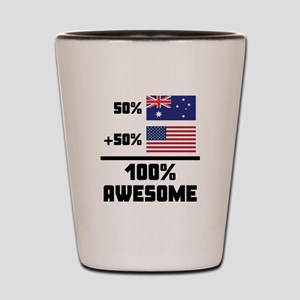 Awesome Australian American Shot Glass