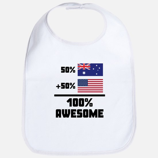 Awesome Australian American Bib