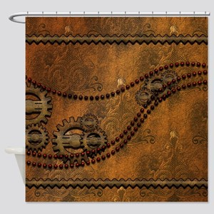 Steampunk noble design with gears Shower Curtain