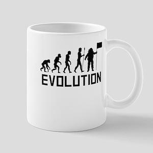 Astronaut Planting Flag Evolution Mugs