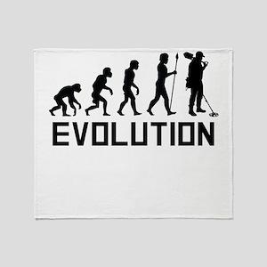 Metal Detecting Evolution Throw Blanket