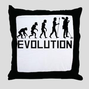 Metal Detecting Evolution Throw Pillow