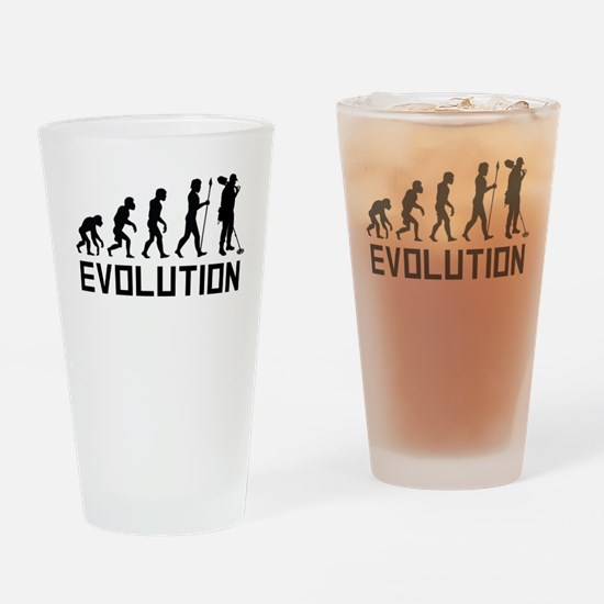 Metal Detecting Evolution Drinking Glass