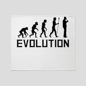 Recorder Player Evolution Throw Blanket