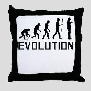 Recorder Player Evolution Throw Pillow