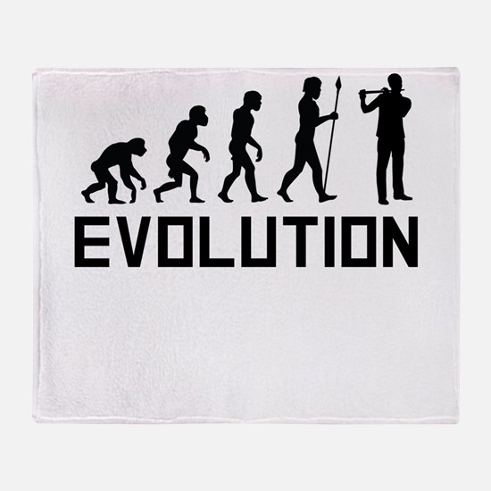 Flautist Evolution Throw Blanket