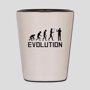 Flautist Evolution Shot Glass