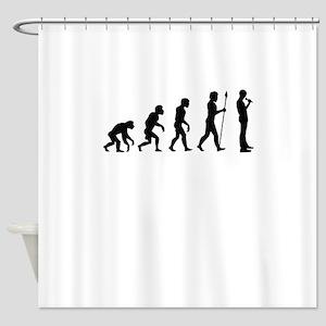 Standup Comedian Evolution Shower Curtain