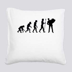 Accordion Player Evolution Square Canvas Pillow