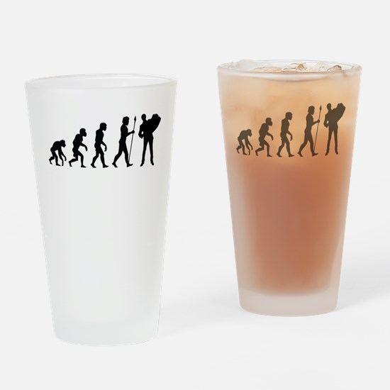 Accordion Player Evolution Drinking Glass