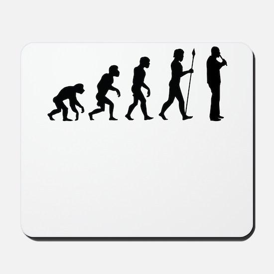 Recorder Player Evolution Mousepad