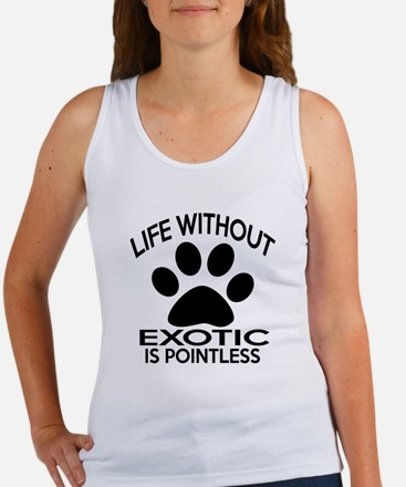 Life Without Exotic Cat Designs Women's Tank Top