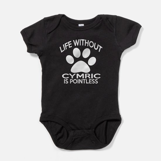 Life Without Cymric Cat Designs Baby Bodysuit