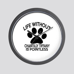 Life Without Chantilly Tiffany Cat Desi Wall Clock