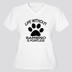 Life Without Bamb Women's Plus Size V-Neck T-Shirt
