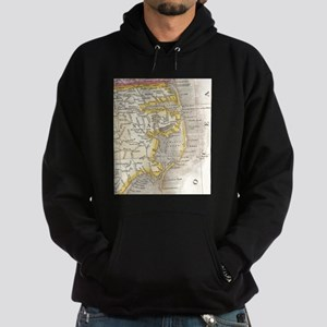 Vintage Map of The Outer Banks (1818 Hoodie (dark)