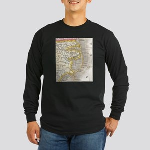 Vintage Map of The Outer Banks Long Sleeve T-Shirt