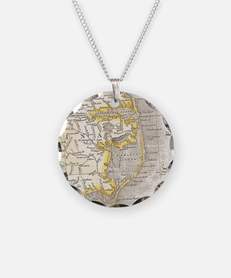Vintage Map of The Outer Ban Necklace