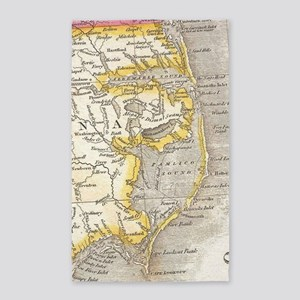 Vintage Map of The Outer Banks (1818) Area Rug