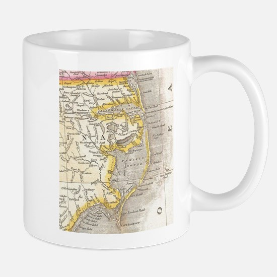 Vintage Map of The Outer Banks (1818) Mugs