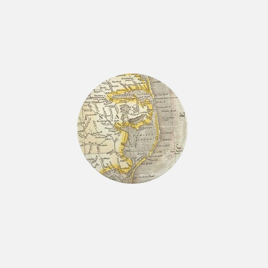 Vintage Map of The Outer Banks (1818) Mini Button