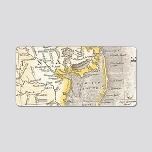 Vintage Map of The Outer Ba Aluminum License Plate