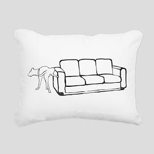 Dog vs Couch Rectangular Canvas Pillow