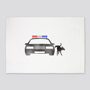 Dog vs Cop 5'x7'Area Rug
