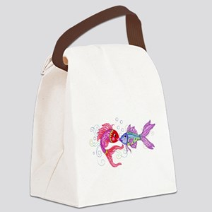 Fish romance Canvas Lunch Bag