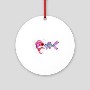 Fish romance Round Ornament