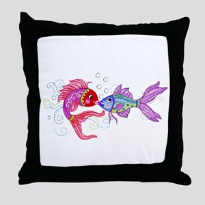 Fish romance Throw Pillow