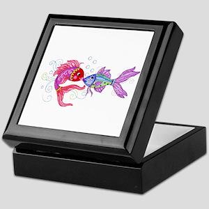 Fish romance Keepsake Box