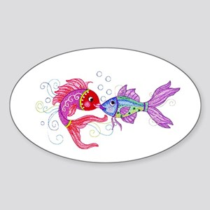 Fish romance Sticker