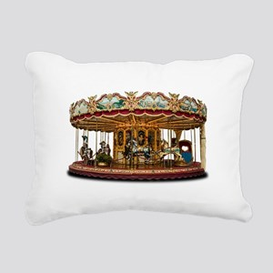 Carousel Rectangular Canvas Pillow